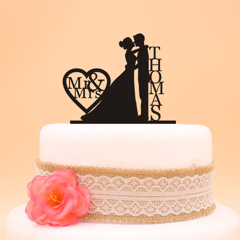 personalised silver wedding cake toppers custom wedding holding and grooms cake topper last 18223