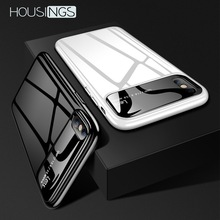 все цены на Luxury Mirror Ultra-thin Anti-fall Phone Case For iPhone 7 8 Plus XR Xs Max Hard PC Matte Glass Back Cover For iPhone X XS 6 6s