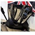Модные свободного покроя черные сумки на ремне большой теплые чистый черный женская сумка из искусственной кожи сумочка в . ю .