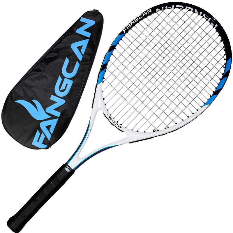 Integrated type Carbon Tennis Racket thread Standard Durable novice beginners men women blue pink tennis racquet free bag