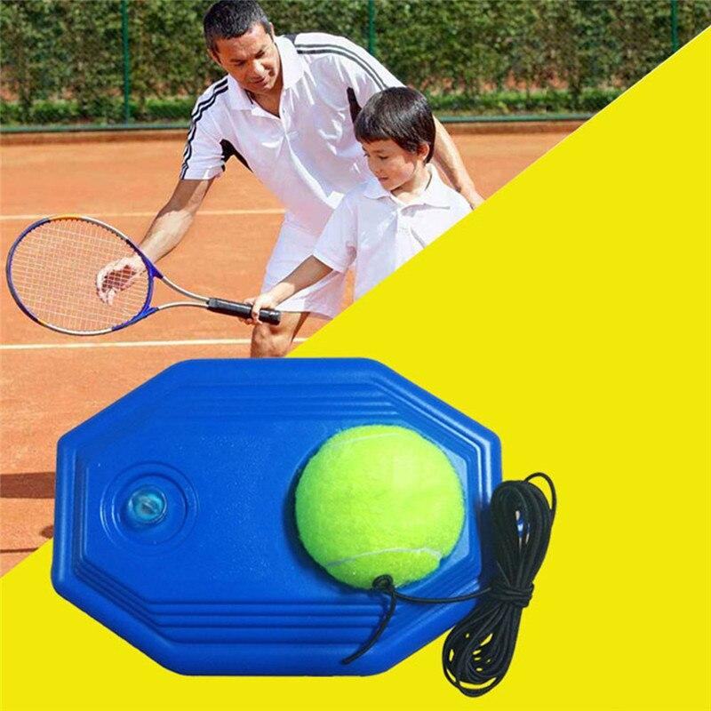 אחת טניס מאמן כלי ערכת בפועל מתחילים עם חבל לימוד עצמי טניס ריבאונד נגן עם מאמן פנלים + 1 כדור