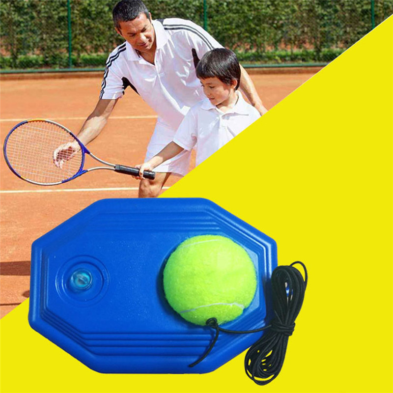 Single Tennis Trainer Tool Kit Practice Beginner With A Rope Self-study Tennis Rebound Player With Trainer Baseboard + 1 Ball