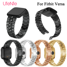 Aluminum alloy Watch Strap For Fitbit Versa smart watch Band Screwless Bracelet Replacement Metal Wristbands Accessories frontier classic watch strap for fitbit versa band replacement metal with rhinestone wristbands accessories steel strip