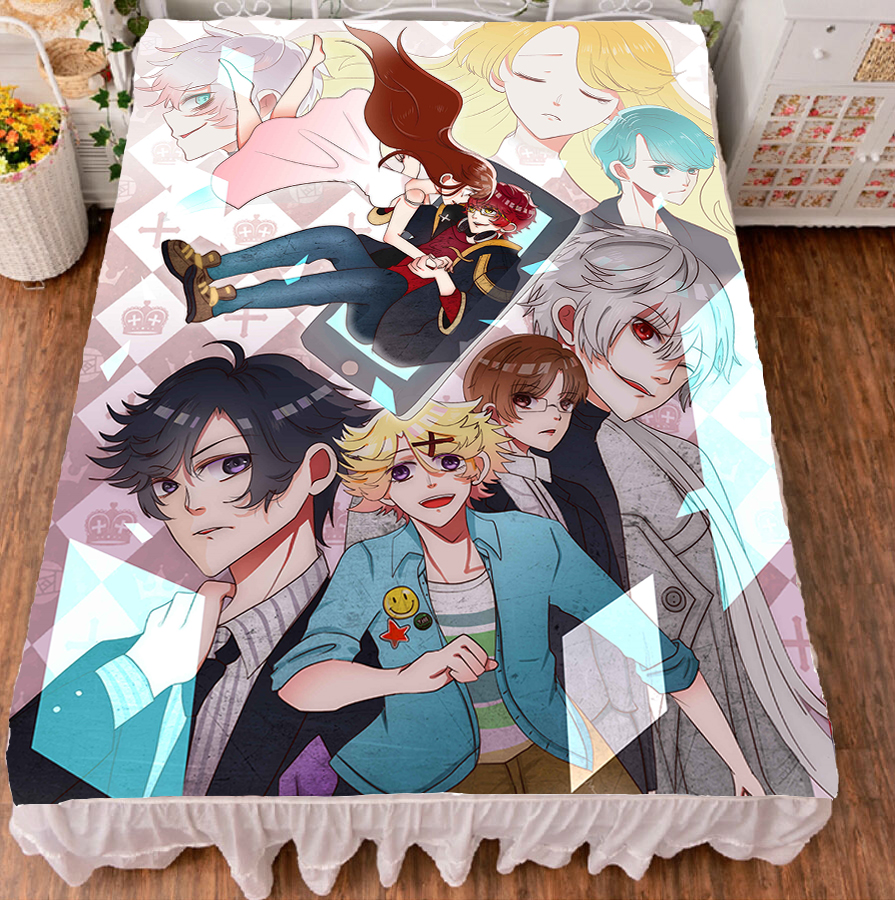 Japanese Anime Mystic Messenger  Bed Sheet Throw Blanket Bedding Coverlet Cosplay Gifts Dropshipping