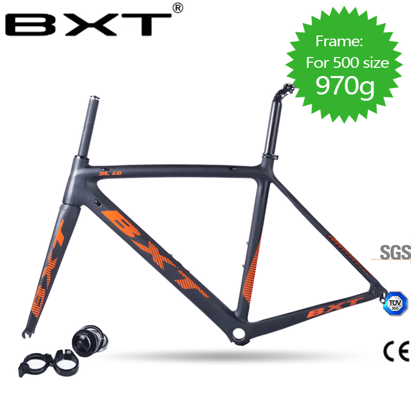 2018 Carbon Road Bike Frame Di2 And Mechanical 500/530/550mm Super Light Carbon Road Frame+Fork+headset Carbon Bicycle Frame