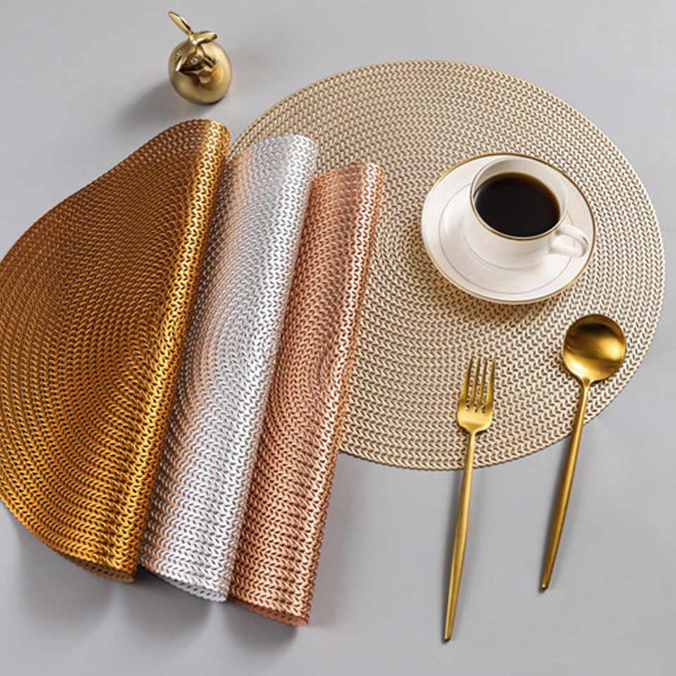 Kitchen Round Table Placemats Non Slip Coaster Table Mat Pvc
