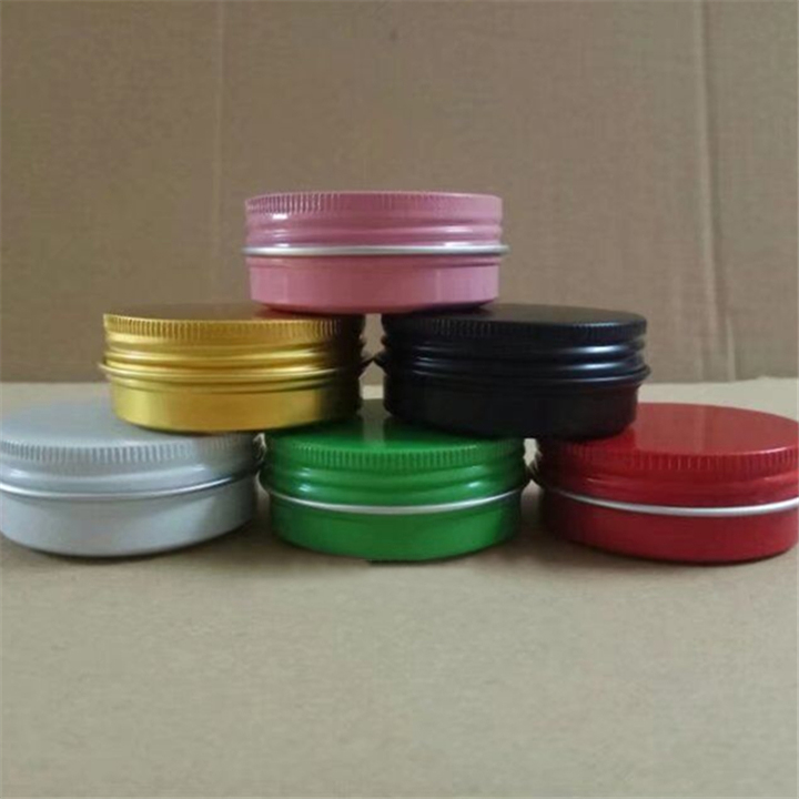 10/30pcs 30ml Empty Black/Gold/Pink/White/Green/Red Aluminum Tin Can Jar 30ml Refillable Cosmetic Cream Case Screw Cap Container