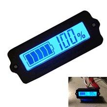 Синий 12 В ly6w свинцово-кислотная Батарея Ёмкость индикатор ЖК-дисплей цифра Дисплей Meter литиевая Батарея Мощность детектор Тестер Вольтметр