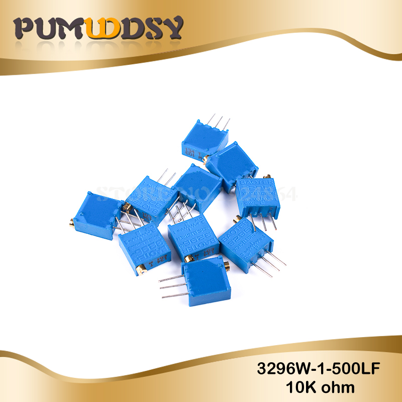 10pcs 3296W-1-103LF 3296W 10K Ohm 103 3296W-1-103 3296W-103 W103 Trimpot Trimmer Potentiometer