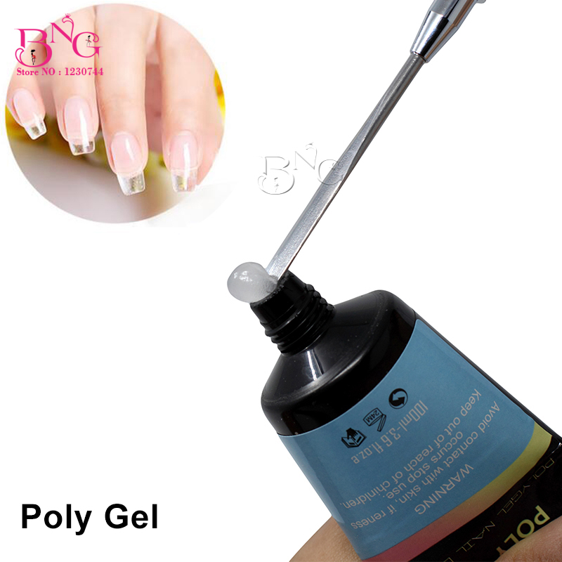 BNG 30ML Tube Transparent UV Gel Building Clear Color Nail Salon Manicure Extension Tips Nail Poly Gel Bulider 1 roll 10m clear nail double side nail adhesive tape strips tips transparent manicure nail art tool
