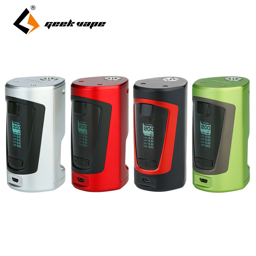 Original GeekVape GBOX Squonker 200W TC MOD GBOX Squonker Box Mod with 8ml Squonk bottle No Battery E Cigs Vape Mod