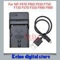 Nuevo cargador usb para sony np-f970 f960 f750 f930 f730 f570 f550 f990 f980 compatible baterías bc-v500 bc-v615