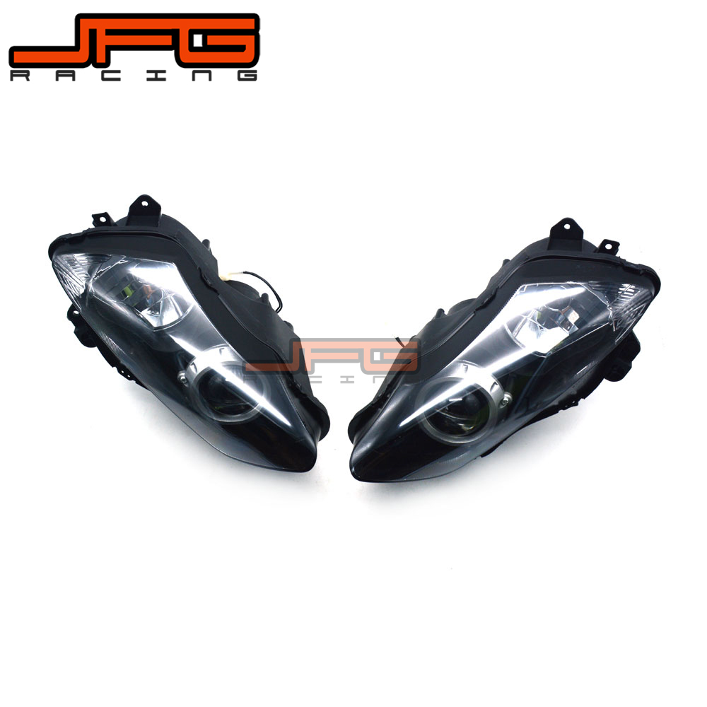 Clear Front Headlight Headlamp Street Fighter for Yamaha YZF R1 YZF-R1 2007-2008 2007 2008 hot sales for yamaha r1 fairings yzfr1 2007 2008 yzf r1 yzf r1 yzf1000 r1 07 08 red black abs fairings injection molding