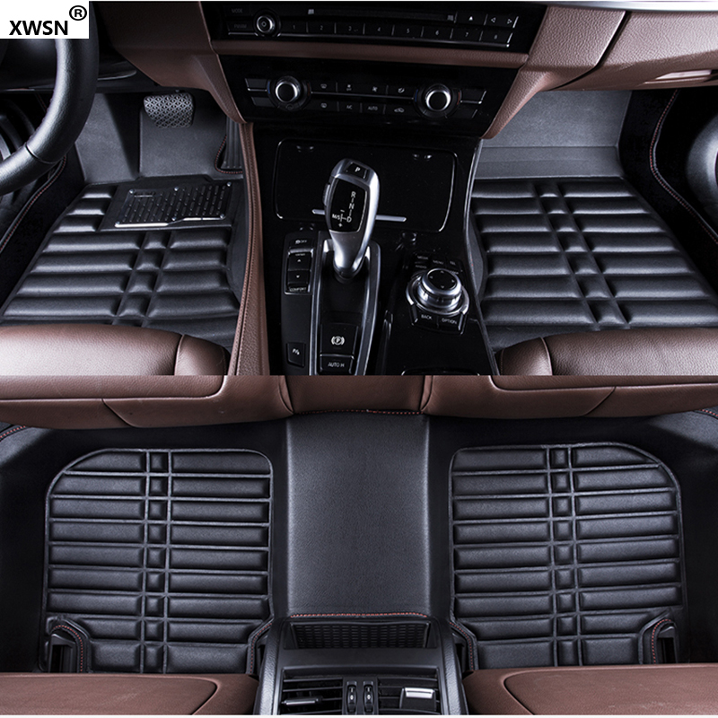 Custom car floor mats for peugeot all models 307 206 308 407 207 406 408 301 508 2008 3008 4008 Auto accessories car styling car trunk mat for peugeot 308 peugeot 508 206 207 301 307 sw 407 408 2008 4008 5008 car accessories