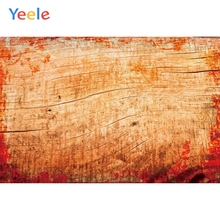 Yeele Wood Natural Backdrop Red Flowers Leave Decor Photography Backdrops Personalized Photographic Backgrounds For Photo Studio