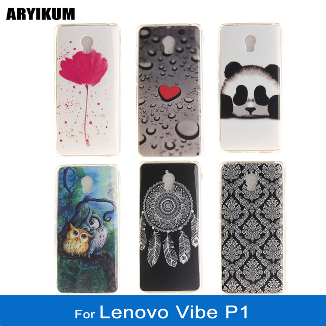 For Lenovo Vibe P1 Protector Case For Lenovo p1a42 p1 a42 Soft Silicone Animal Plastic Painted Phone Back Cover For Lenovo P1