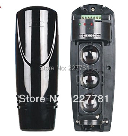 Wired 250M Alarm Triple Beam Photoelectric Infrared LED Detector Tamper Alarm Output