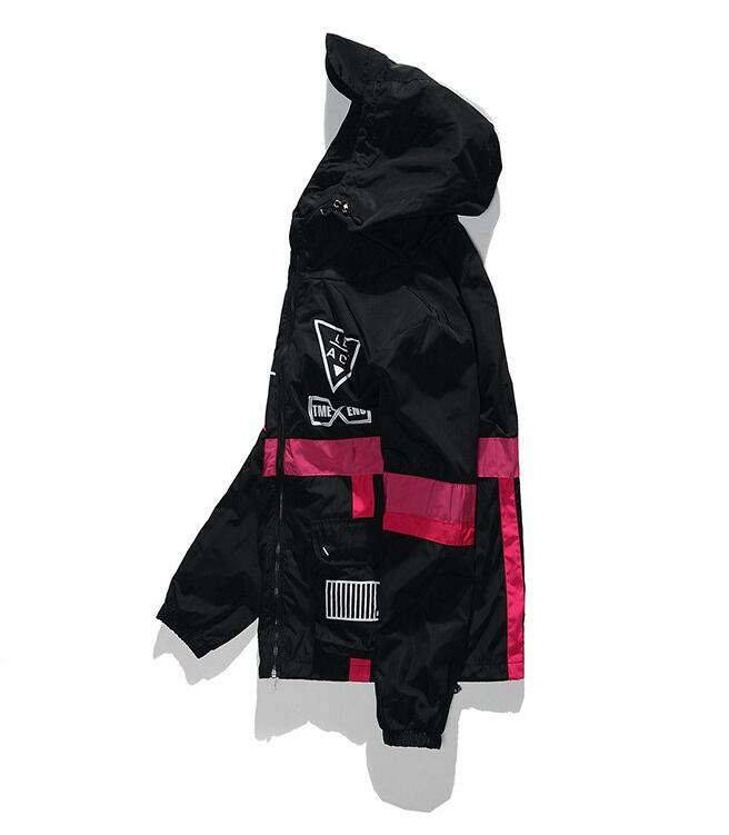 yizlo Spring Autumn Men Windbreaker Jacket Brand Fashion Hip Hop Thin Zipper Casual Jacket Mens Outwear yizlo Spring Autumn Men Windbreaker Jacket Brand Fashion Hip Hop Thin Zipper Casual Jacket Mens Outwear anorak