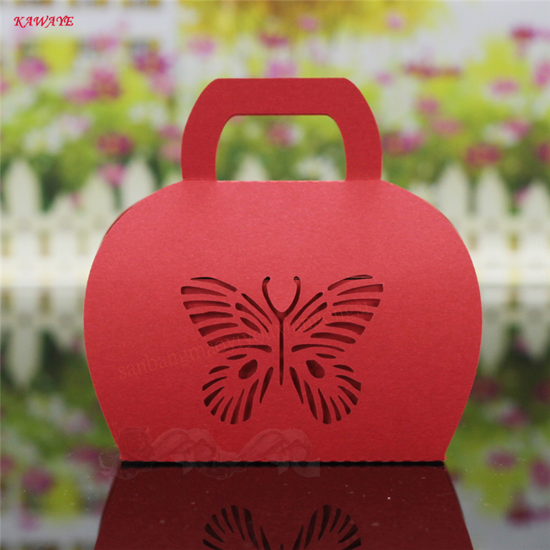 30Pcs Cute Paper Butterfly Chocolate Box Guests Party Supplies Candy Box Wedding Favors Gift Box Wedding Decoration 5ZXT27