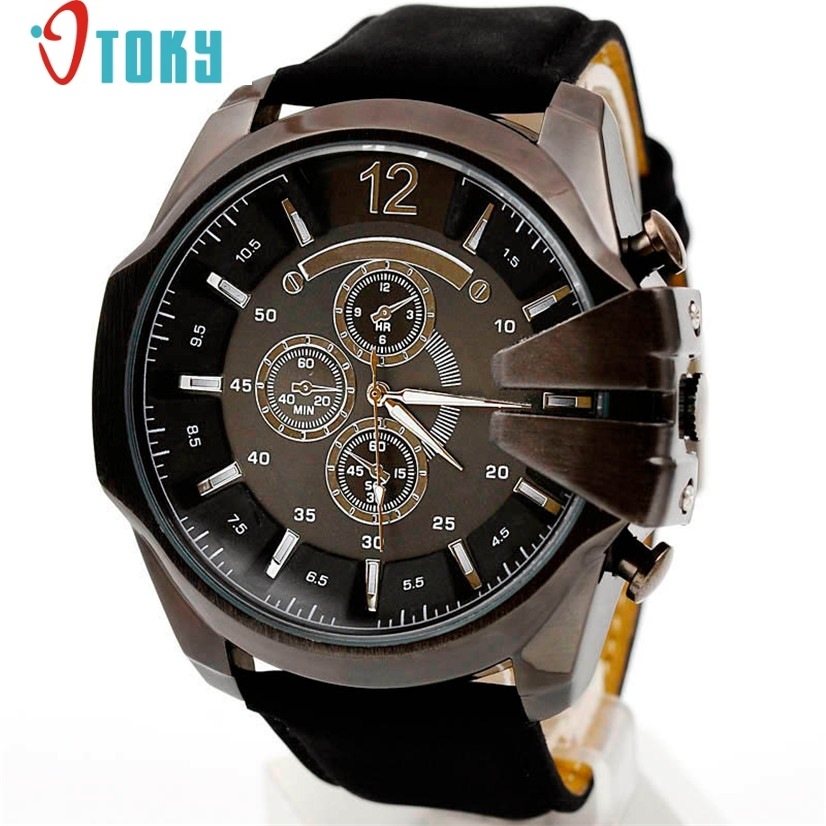 men watch Sport Military Luxury Analog Sport Steel Case Quartz Dial Leather Wrist Watches M4 lacywear u 1 gl