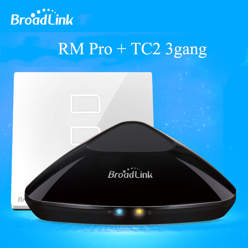 Broadlink RM PRO Universal Intelligent WIFI+ IR+ RF Remote Controller+TC2 3 Gang