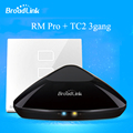 Broadlink RM PRO Universal Intelligent WIFI+ IR+ RF Remote Controller+TC2 3 Gang ON/OFF Touch Screen Wall Light SwitchSmart Home