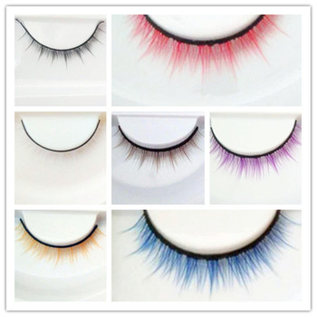 Bjd doll accessories bjd doll eyelashes -7 colors black brown white red white purple yellow 2017 newest red white black colors mountain