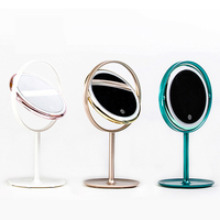 Modern simple cosmetic mirror vanity lights portable beauty lamp glass mirror lamp dormitory table girl princess dressing mirror