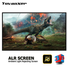 Ambient Light Rejecting ALR Slim Frame Projector Screen 80 - 150 Ultra-thin border Fixed Anti-light Projection Screens