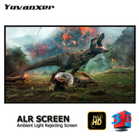 Ambient Light Rejecting ALR Slim Frame Projector Screen 80 150 Ultra thin border Fixed Frame Anti light Projection Screens