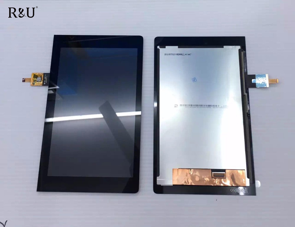 R&U New High-quality Touch Screen Digitizer & LCD Display Glass Lens Assembly For Lenovo Yoga Tablet 3 850 YT3-850