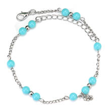 1 Pc Stylish Plastic Beads Foot Chain Ankle Bracelet Anklet Barefoot Sandals Jewelry For Women Lady New