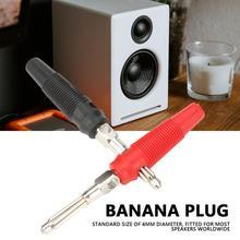 P3008 10Pcs/Lot 4mm Banana Plug Jack For Speaker Amplifier Test Probes Connector Nickel Plating
