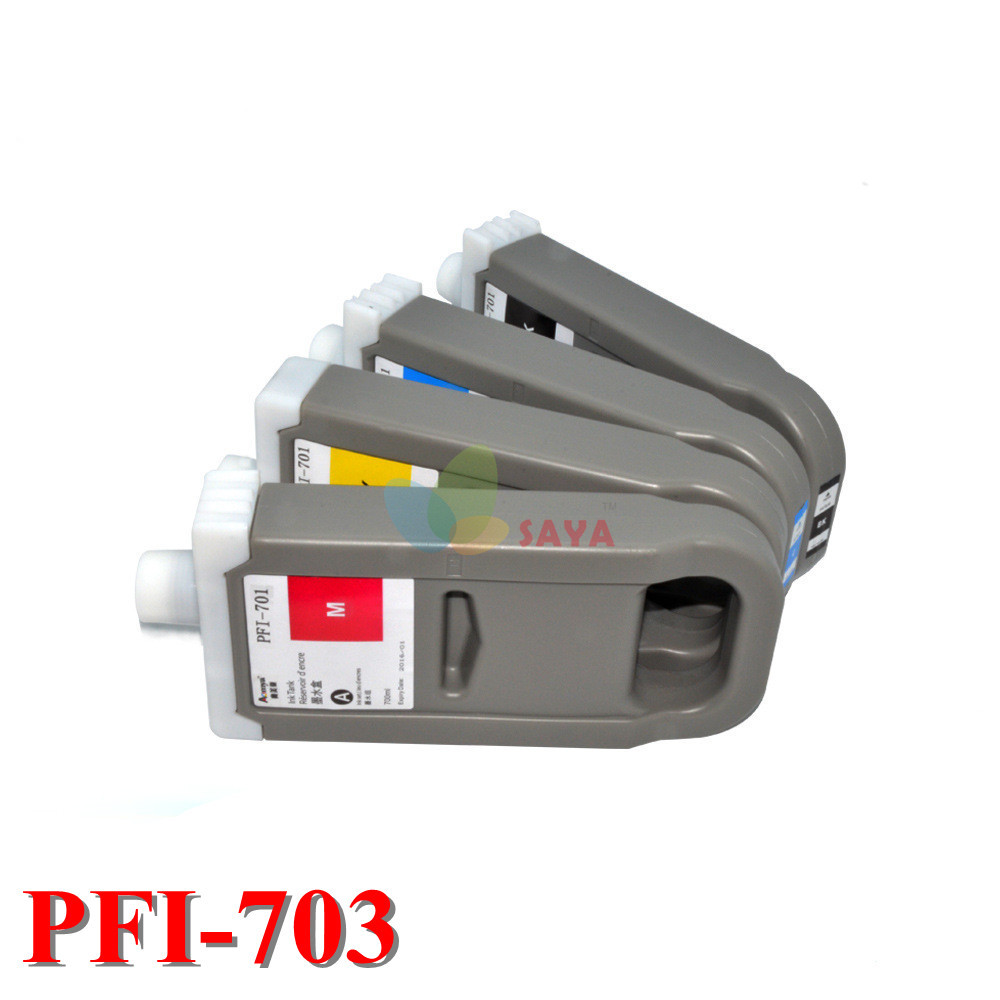 ФОТО PFI-703 Top Quality Replacement Ink Cartridge For Canon iPF 825 iPF 815 printers Cartridge (700ml) with chip,5 Colors Dye Ink