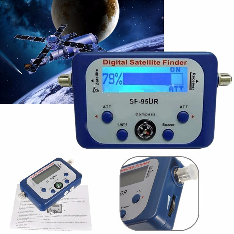 Digital Satellite Finder Mini Antenne Satellite Mit LCD Screen Display Für <font><b>TV</b></font> Netzwerk Meter Signal Festigkeit Gericht image