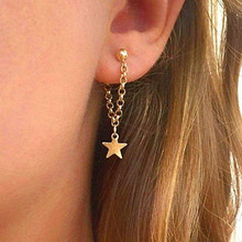 South Korea Europe And The United States Fashion Personality Women's Simple Five-pointed Star Earrings Wholesale Fashi