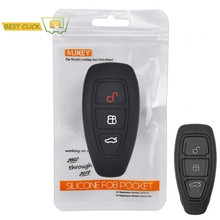 ซิลิโคนสำหรับFord Focus RS Fiesta Mondeo Kuga B-Max Grand C-Max S-max Galaxy Keyless Fob Shellผู้ถือProtector(China)
