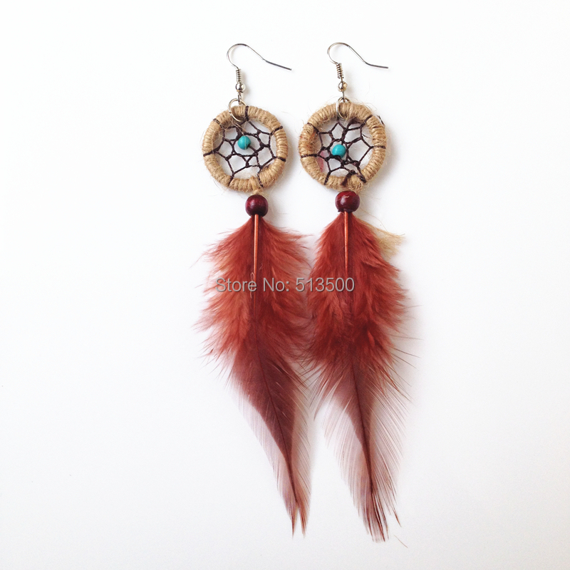 Indian Feather Dream Catcher Earring Earrings In Drop From Jewelry Accessories On Aliexpress Alibaba Group