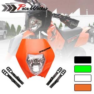 4 اللون الوسخ الدراجة النارية موتوكروس supermoto universal headlight fairing ktm exc sx