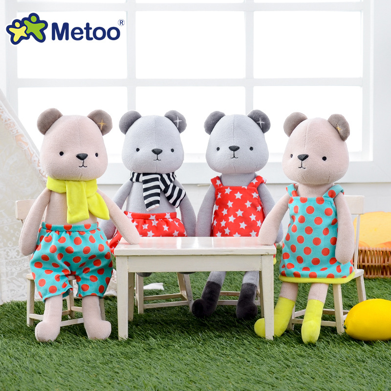 Metoo Doll Stuffed & Plush Animals Toy Plush Animals Soft Baby Kids Toys for Girls Children Boys Birthday Gift Kawaii Bear Toys