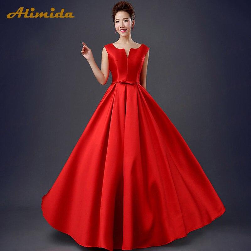 ALIMIDA Robe De soirée 2018 robes de soirée élégantes étage Long col en v dos Corset Robe De soirée formelle a-ligne vestidos de festa - 5