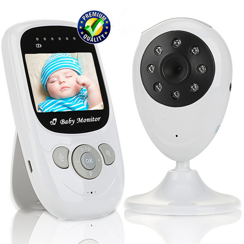 2.4 Inch Baby Monitor Digital Wireless Security Baby Camera High Resolution TFT LCD Audio Video Two-way Talk Night Vision ~ 7 inch baby monitor 2x night vision camera set two way