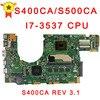 For Asus S400c S500c S400CA S500CA MAIN BOARD Original Motherboard With I7 3537 CPU S400ca Rev