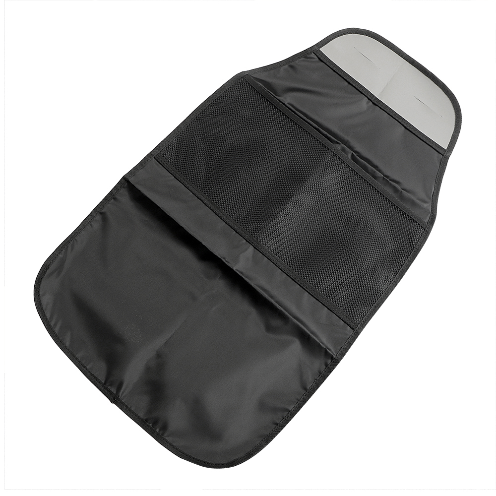 Black Automobiles Seat Covers Car Seat Back Protector Bag Holder Storage Food Drink Bottles Anti Dirty Mat Baby Child Kick