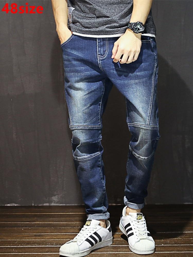 Autunno dei jeans degli uomini di moda di grandi dimensioni pantaloni di tendenza degli uomini della gioventù tratto di cucitura harem pants marea pantaloni maschili 48 46 44 42 40
