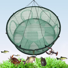 Newly Automatic Fishing Net Trap Cage Round Shape Durable Open For Crab Crayfish Lobster BF88