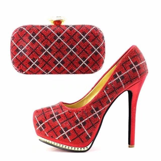 Ebi Mode 4 38 Sb8117 Assortir Belles Assorti 42 Ensemble Dans Plaid Aso Noce Chaussures Sac Élégante À Rouge Et Africain De ERqwx7