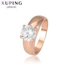 37aaf7d31ed6 Xuping модные украшения женское кольцо уникальный красивый розовое золото  цвет покрытием кольца для женщин День святого