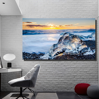 QK ART Canvas Poster Ice Ultra Oil Painting for Living Room Decorative Pictures Decorative Pictures no Framed