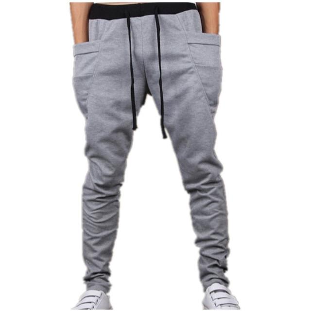 2016 Primavera Verano Otoño Hombres de moda Pantalones de Harén, masculino Casual Hip Hop Pantalones Pantalones Deportivos